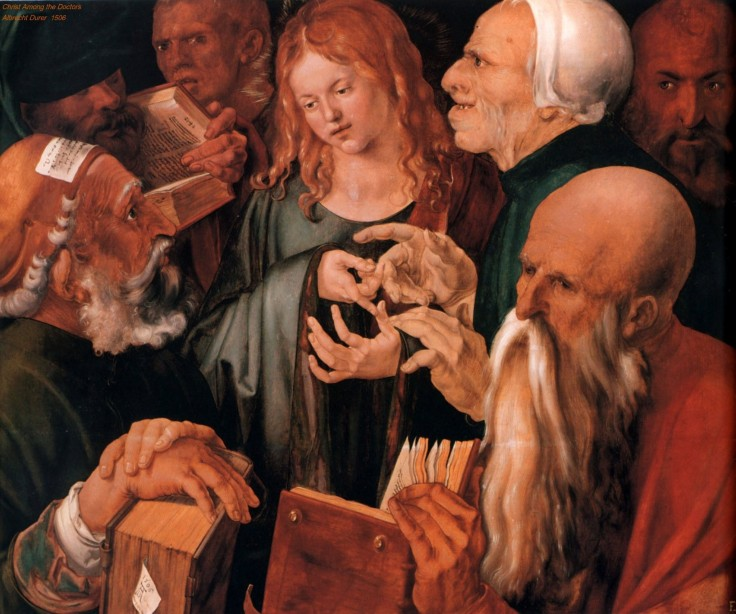 Christ Among the Doctors Albrecht Durer  (1506) 1471-1528 Source Olga's Gallery
